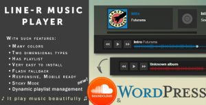 Sticky Music Player «Line-R» w/ SoundCloud — WP Edition