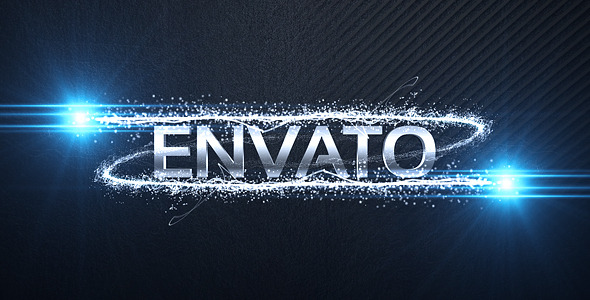 Particle Streaks Logo Reveal After Effects Project