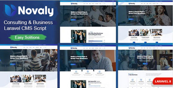 Novaly – Consulting & Business Laravel CMS Script – PHP Script